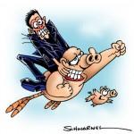 Schweinevogel, Sid undSchwarwel - Illu für Schwarwel-Kurs
