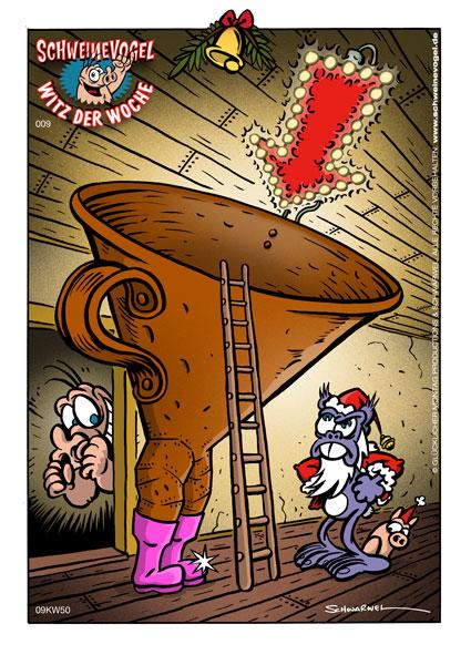 Schweinevogel Cartoon Nikolaus